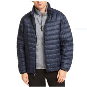 Hawke & Co. Quilted Packable Nylon Jacket, navy